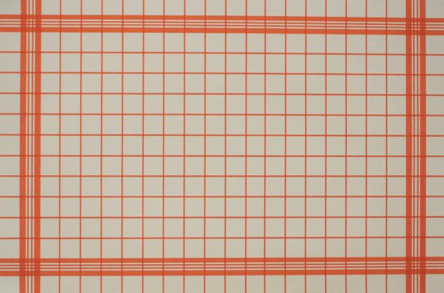 """Foto av kunstverket: """"Kjøkkenhåndkle"""", 63x42cm, silketrykk."""